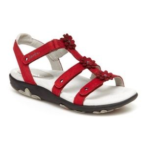 JAMBU | Sunflower Leather Sandals - Red